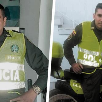 Brayan Jesús Tuirán Cabrera, policía activo. Alfredo Enrique Sanjuán Salcedo, en proceso de reintegro. | AL DÍA