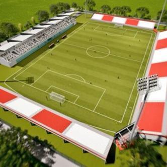 Render (imagen virtual) de lo que sería el nuevo escenario deportivo en el municipio de Soledad, ubicado en la calle 30 entre carreras 24 y 26.