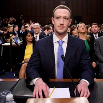 Mark Zuckerberg, contestó las preguntas sobre seguridad ante un comité de senadores.   Tomada de: Internet.