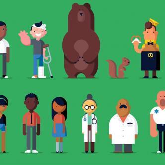 Esta semana la ilustradora Robin Davey trajo a los personajes secundarios de los Óscar | Ilustración:  Robin Davey