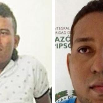 Darwin Araújo el día que lo balearon y capturaron en 2017, y Dionisio Frías aún sigue preso en centro carcelario.