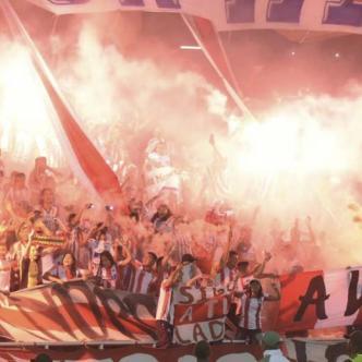 Al igual que ante Paranaense, la hinchada de Junior se lució ante Independiente Medellín.