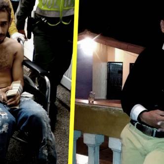 Andrés Felipe Álvarez Carrascal, de 18 años, capturado. Deiber Rafael Cardona Mejía, de 31 años   Cortesía
