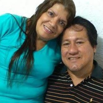 Luis García y su esposa Adriana Garcés, que resultó herida.