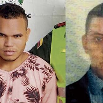 Manuel Chávez Buelvas, capturado por agresor y Samer Paternina Pérez, herido.