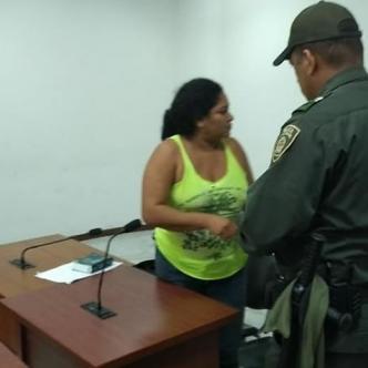 Angélica María Coronado durante la audiencia. | Al Día