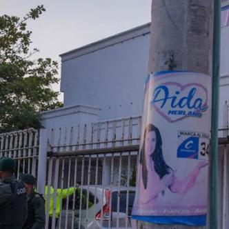 Sede de la campaña de Aida Merlano al Senado allanada el pasado 11 de marzo. | Archivo