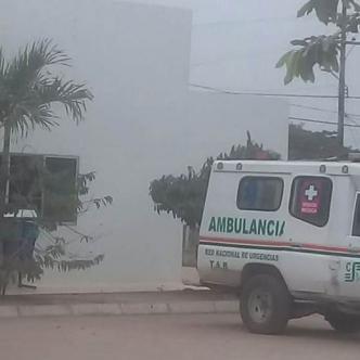 En el interior de esta ambulancia dejó de existir Enrique Enilson Villalba Buelvas cuando era trasladado a Sincelejo. | AL DÍA