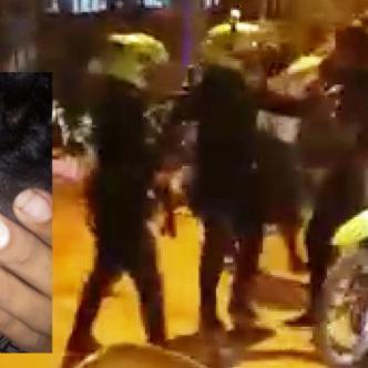 Los uniformados atacaron una familia en el barrio Las Malvinas de Santa Marta sin aparente motivo y se llevaron una moto.
