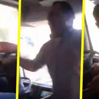 La persona que estaba grabando al hombre le advirtió que venía una curva peligrosa | YouTube