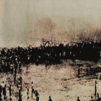 Gráfica histórica momentos después de la caída de los palcos. | Archivo