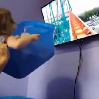 La pequeña no dejaba de reir | Captura de pantalla
