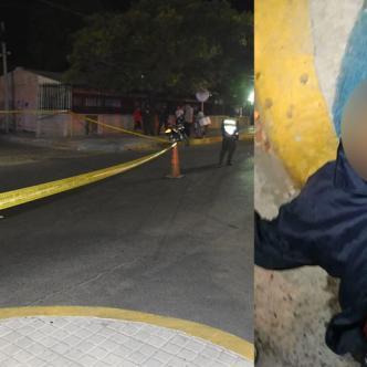 Las autoridades encontraron en el suelo a joven baleado.