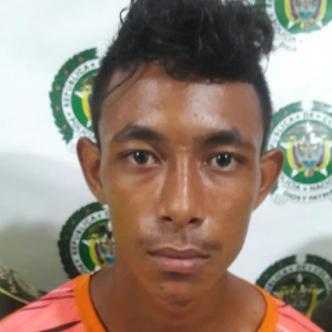 Carlos David Orangel Beltrán, capturado anoche por la Policía.