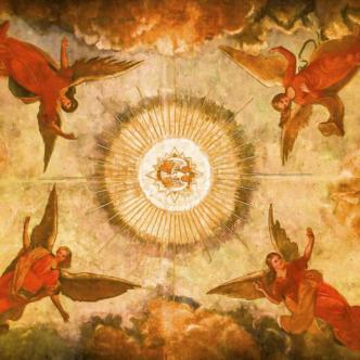 Los ángeles de la cúpula de San Nicolás de Tolentino, la primera iglesia de Barranquilla, construida en el siglo XVII. | César Bolívar