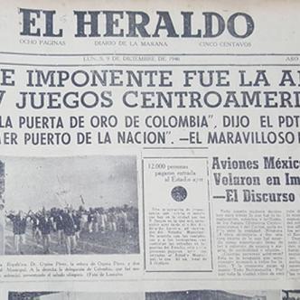 Así registró El Heraldo la inauguración de los Juegos Centroamericanos y del Caribe que se celebraron en Barranquilla en 1946.   Al Día