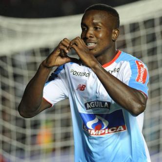 Daniel Moreno celebra el tanto que convirtió el jueves pasado en el estadio General López, durante el empate 1-1 ante Colón.
