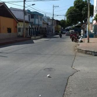 Calle 40 con carrera 25, lugar donde dejaron abandonada a la víctima. | Al Día