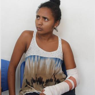 Yasyana Carolina Mercado Prens denunció la agresión de la que fue víctima por parte de su excompañero sentimental. | Al Día