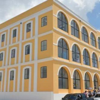 Edificio reconstruido donde funcionará la sede del Sena Salud.   Hansel Vásquez