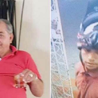 Pedro Loaiza Morales (i), la víctima; y el autor material (d), quien quedó registrado en un video.