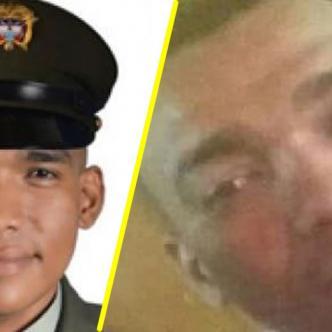 José del Carmen Pineda Carrillo, el policía asesinado anoche en Santa María. En la otra foto su hermano Haider Pineda Carrillo, el otro acribillado. | Suministrada
