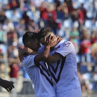Venezuela celebra tras marcar ante Colombia en la primera fecha del Grupo A.