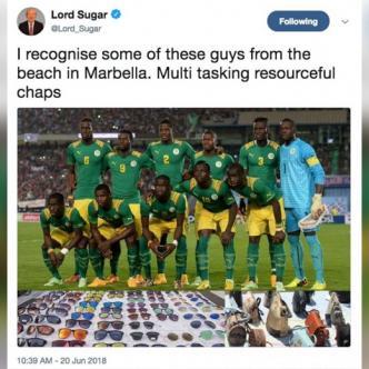 """El presentador comparó a los jugadores de Senegal con """"manteros""""."""