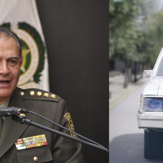 El general Óscar Naranjo fue vicepresidente en 2017 y El actor peruano Christian Meier, interpreta a Naranjo.