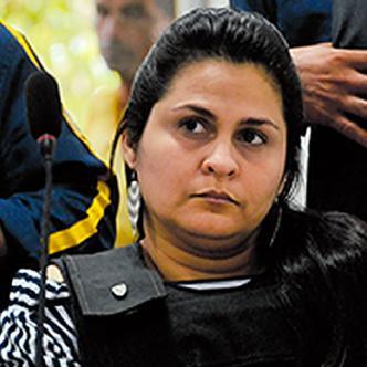 Dayana Jassir durante la audiencia realizada ayer en la sala 18 del Centro de Servicios Judiciales | AL DÍA