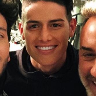 Sebastián Yatra, James Rodríguez y Gianluca Vacchi en medio de las grabaciones I Instagram