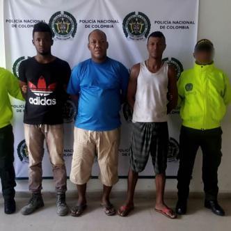 Los capturados están identificados como Wilfran Pérez, alias el Porki, de 38 años; Federman Viloria, el Ferna, de 34; y Deivis Navarro | Cortesía