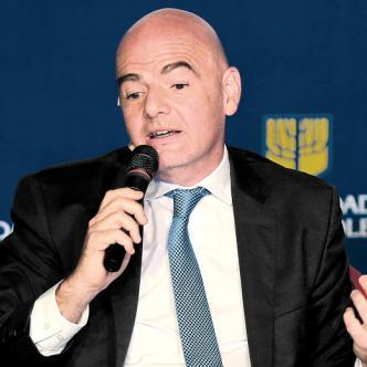 El presidente de la Fifa, Gianni Infantino cree que Colombia en unos años puede realizar un Mundial de fútbol de mayores. | AL DÍA