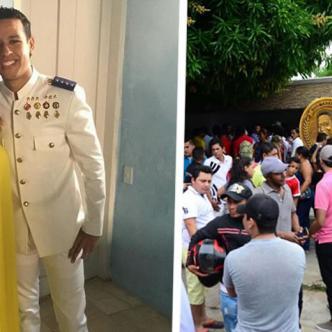 El día de su matrimonio con Dayana Jaimes / En Valledupar, seguidores se trasladaron a la casa de 'Mama Vila', abuela del cantante   El Heraldo