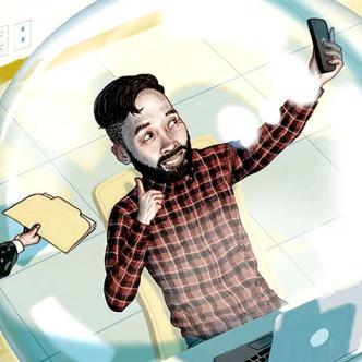 Lo millennials son  quienes más consumen noticias y se informan por las redes sociales | Ilustración: Philly Mag