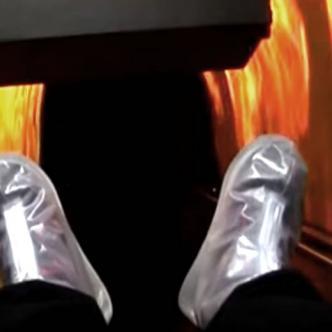 el simulador intenta representar la cremación y el renacer | Foto: Captura de pantalla