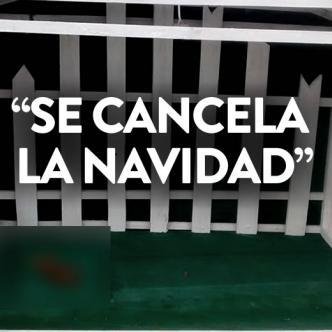 En esta casa iba a nacer el Niño Dios el 24 de diciembre, pero los delincuentes orinaron en ella y se robaron todos los adornos navideños.