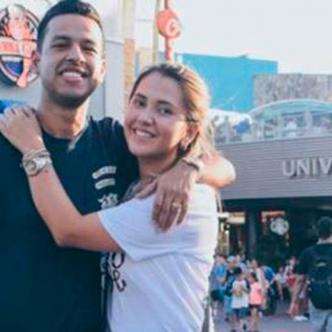 Dayana Jaimes junto a Martín Elias en vacaciones. Instagram Dayana Jaimes