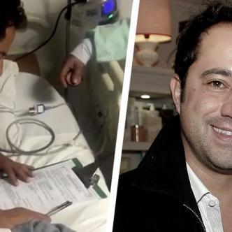 Rafael Uribe Noguera es notificado de su captura en una camilla de la Clínica Vascular Navarra, donde permanece desde el domingo en la noche | Policía