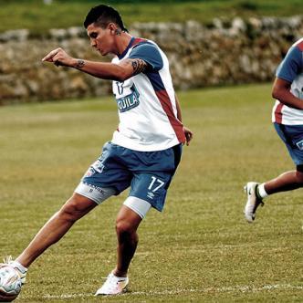 El delantero antioqueño Michael Rangel se perfila como titular para el debut de Junior el sábado ante el DIM en el Metro. | ALDIA.CO