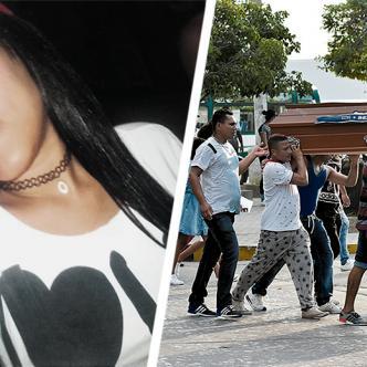 El féretro con los restos mortales de Bella Rosa Celín fue cargado en hombros de amigos y allegados hasta el cementerio. | AL DÍA