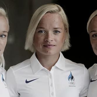 Leila, Liina y Lily Luik se preparan para participar en los Juegos Olímpicos Río 2016. | Foto: Reuters