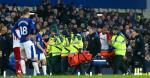 Salomón Rondón se mostró afectado por el incidente. | @Everton