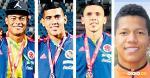 Luis Sandoval, Reinaldo Fontalvo, Juan David Lemus y Jaime Alvarado.