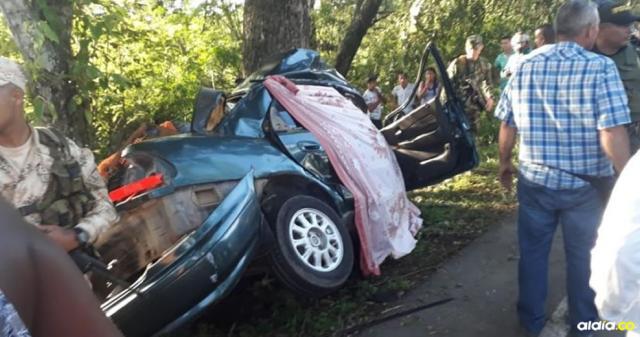 Así quedó el vehículo implicado en el accidente. | Cortesía