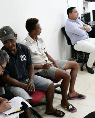 Aspecto de la audiencia de legalización de captura realizada el lunes en Luruaco.