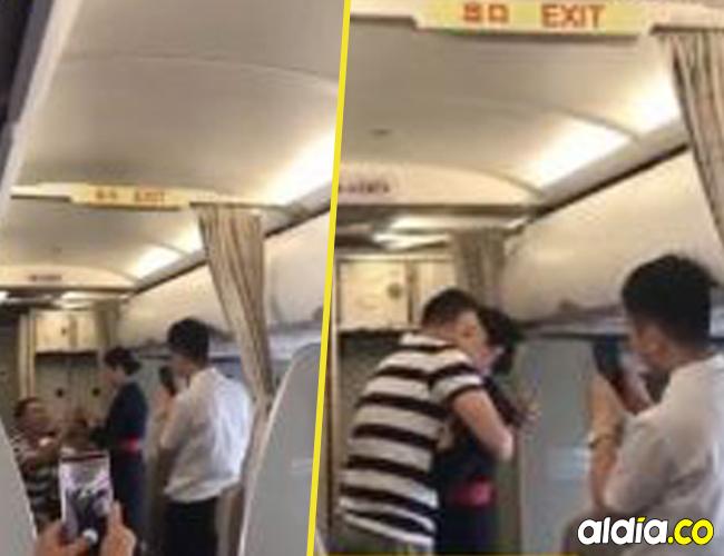 La aerolínea aseguró que la mujer fue negligente en su trabajo | Tomado de video